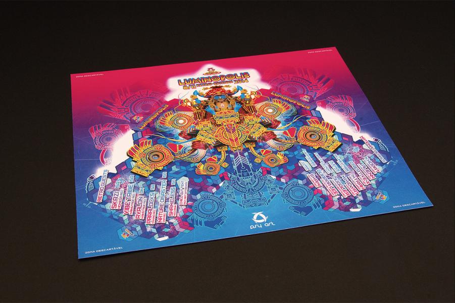 Luminopolis Psychedelic Flyer Psytrance