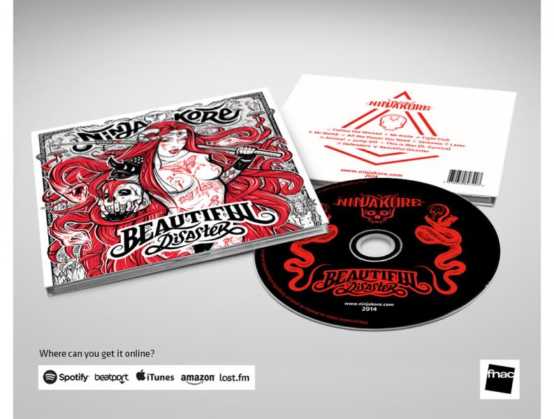 Ninja Kore Beautiful Disaster Album Cover  Illustration Digipack