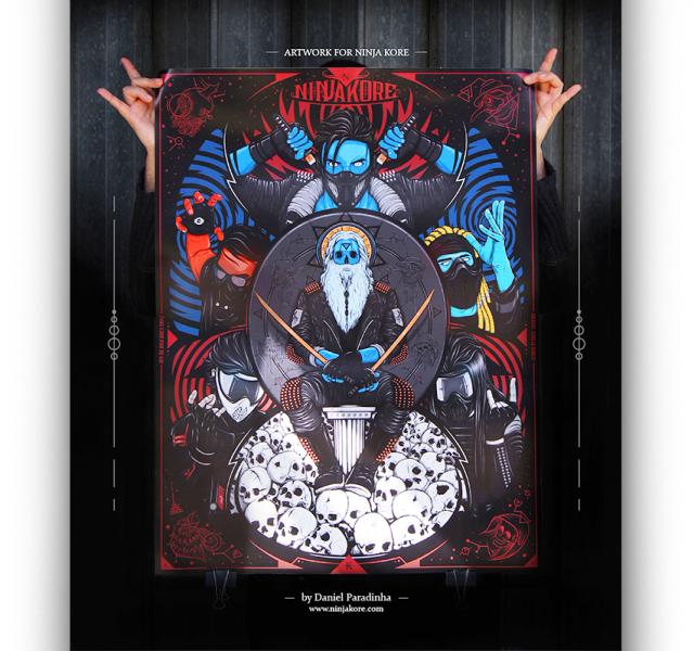 Ninja Kore Guerrilha Sonora Album Cover Illustration Digipack