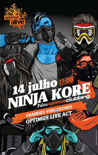 Ninja Kore Guerrilha Sonora Album Cover Illustration Digipack