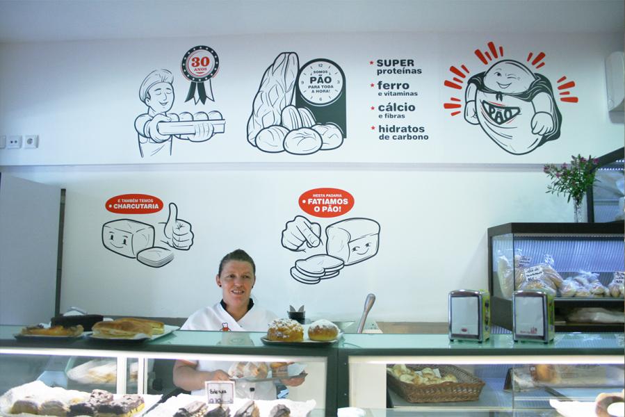 Padaria Decoração Bakery Wall Design
