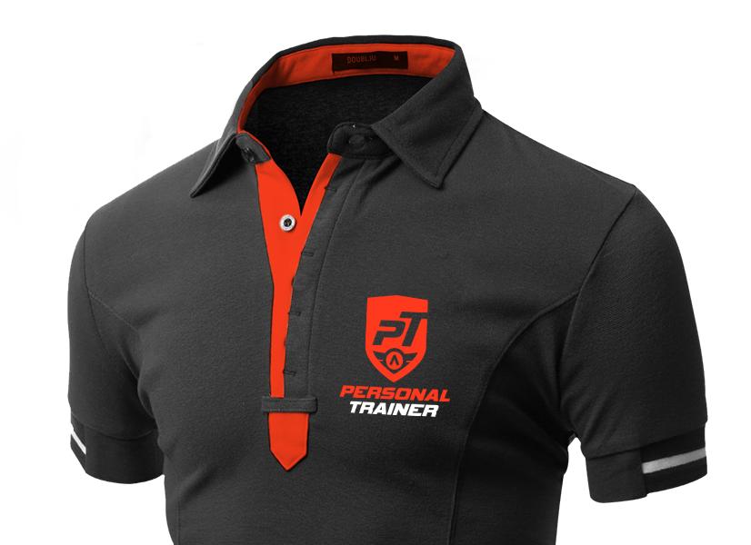 Polo Personal Trainer Vestuário e farda de Ginásio empresa design gráfico porto