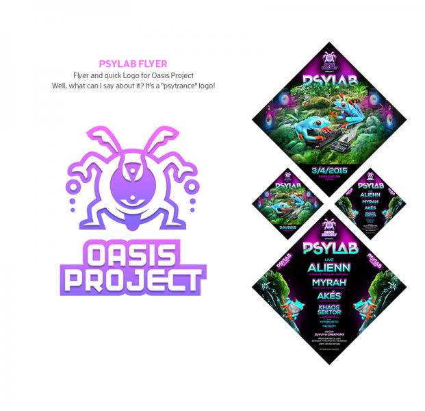PsyLab Psychedelic Flyer