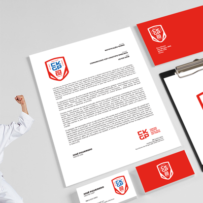 design porto, identidade corporativa gráfica, emblema karate
